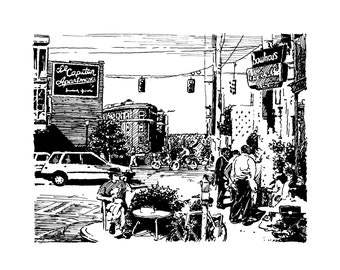 90's Capitol Hill, Seattle print