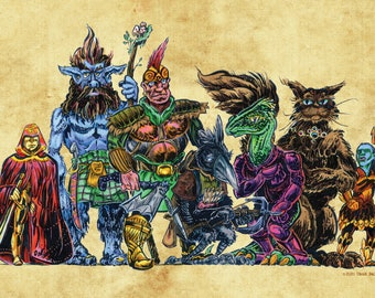 Fantasy RPG / Dungeons & Dragons / Player Character Party / Group Portrait