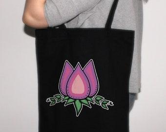 Waabooz Tote Bag Ojibwe Design Indigenous Shoulder Bag Anishinaabe Canvas Bag