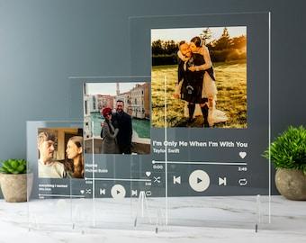 Personalised Song Plaque Playlist Streaming Boyfriend Girlfriend Valentines Music Love Birthday Wedding Christmas Frame Art Decoration