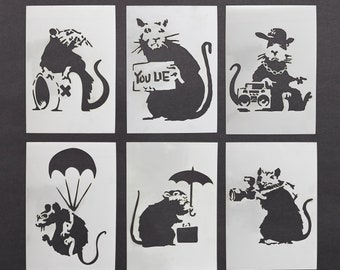 """cat in a suit stencil craft,fabric,glass,furniture,wall art up tp 33/"""""""