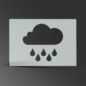 2 Schablone Wolken-Himmel Mylar AirRush Malerei Wand-Kunst