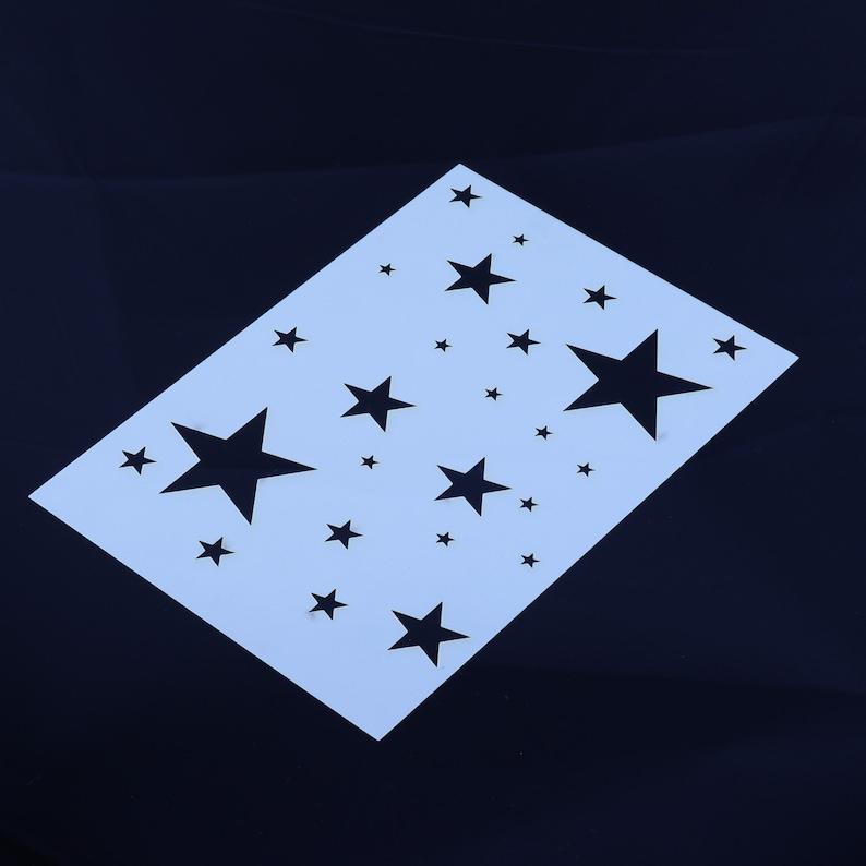 Stars Stencil Space Plantes Mylar Sheet Painting Wall Art Craft Airbrush 190 Micron