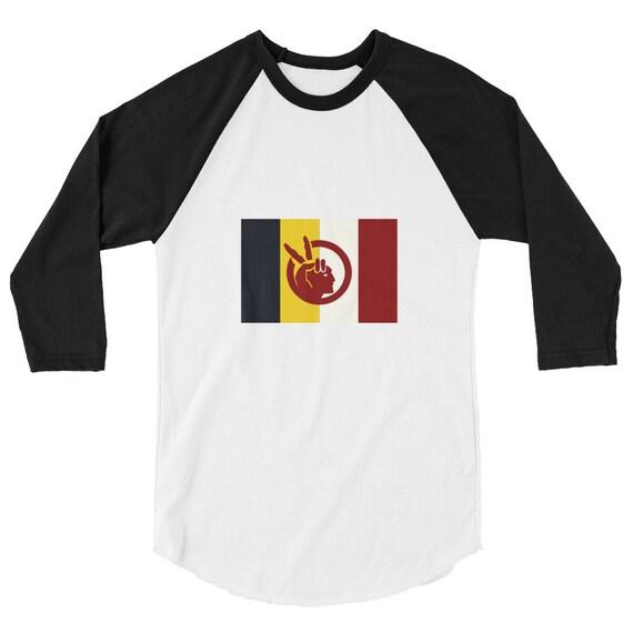 American Indian Movement - AIM - 3/4 sleeve raglan shirt