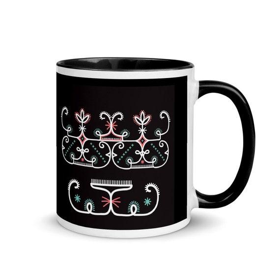 Abenaki Double Curve Mug with Color Inside