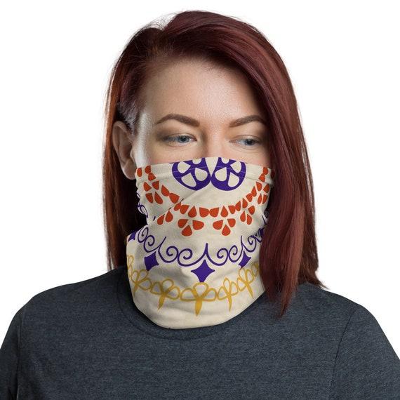 Eastern Wheel - Wabanaki Double Curves - Face Mask / Neck Gaiter