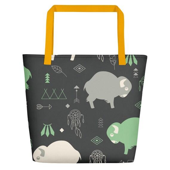 Buffalo Print - Beach Bag