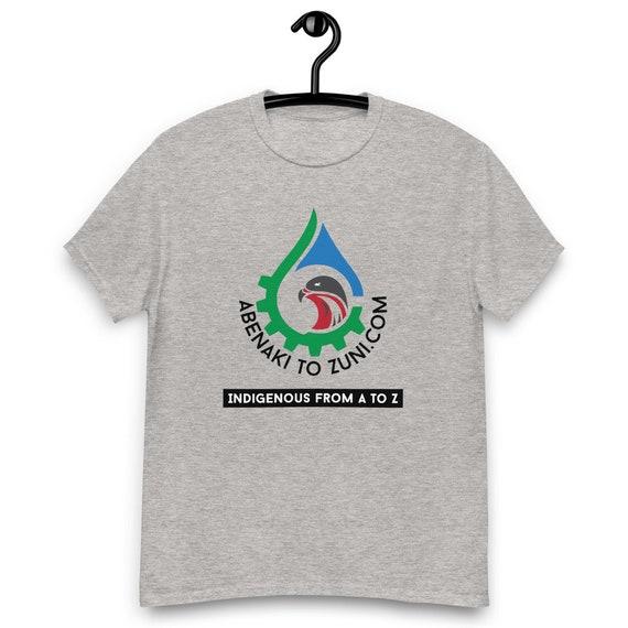 Logo - Abenaki to Zuni - Indigenous A to Z - Men's heavyweight tee