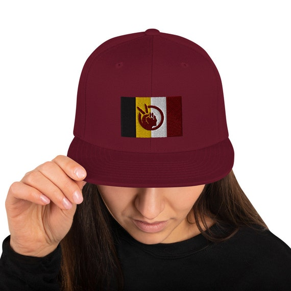 Embroidered American Indian Movement - AIM - Snapback Hat