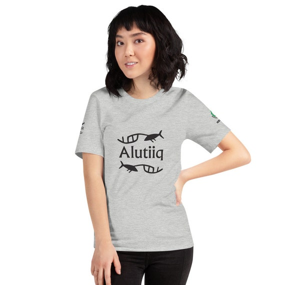 Alutiiq Whaling Petroglyph - Short-Sleeve Unisex T-Shirt
