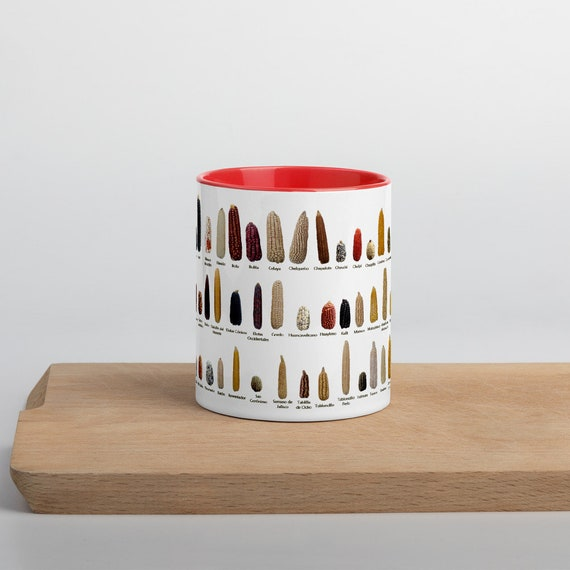 Heritage / Heirloom Corn Varieties Mug with Color Inside