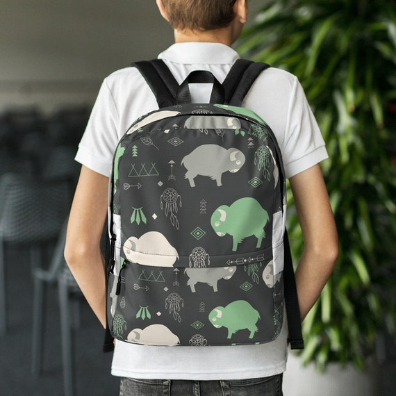 Buffalo Print Backpack