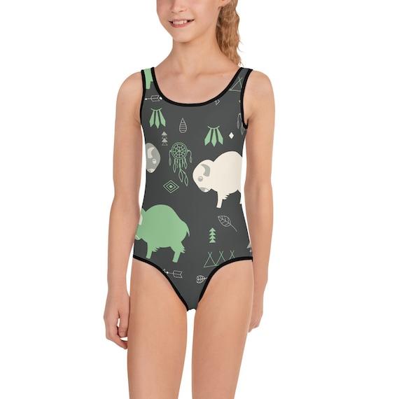 Buffalo Print Kids Swimsuit