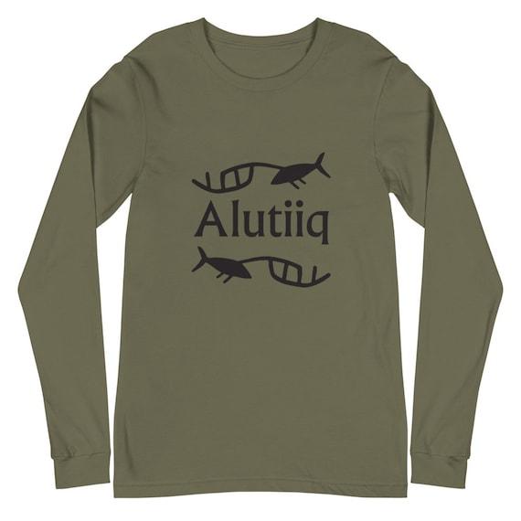Alutiiq Whaling Petroglyph - Unisex Long Sleeve Tee