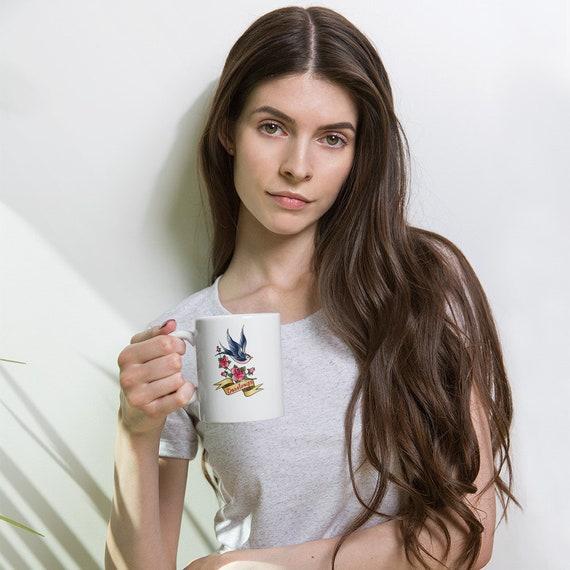 Decolinize Swallow Traditional Tattoo Mug