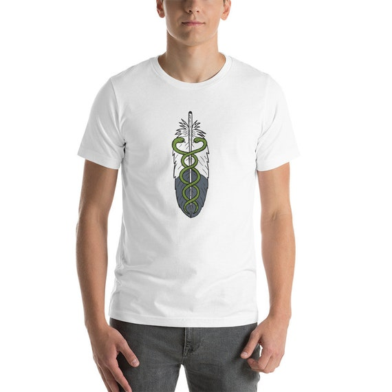Healer Medicine Man/Woman Eagle FeatherShort-Sleeve Unisex T-Shirt