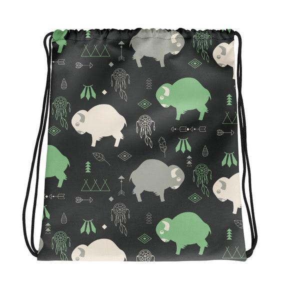 Buffalo Print - Drawstring bag