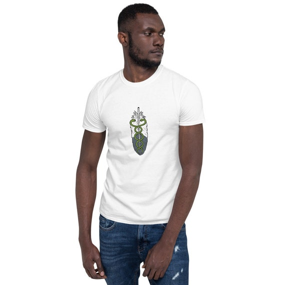 Healer Medicine Man/Woman Eagle Feather Short-Sleeve Unisex T-Shirt