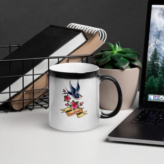Decolonize Sailor Jerry Traditional Swallows Tattoo Glossy Magic Mug
