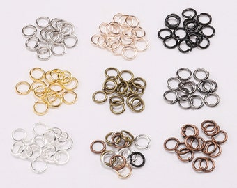 10 x 4mm SILVER Split Rings Keyring Craft Jewellery Charm Bracelet Necklace UK