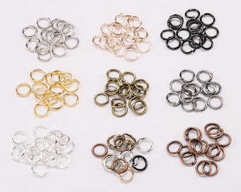 200pcs/lot 3 4 5 6 8 10mm Jump Rings Silver Split Rings Connectors For Diy Jewelry Finding Making Accessories Wholesale Supplies
