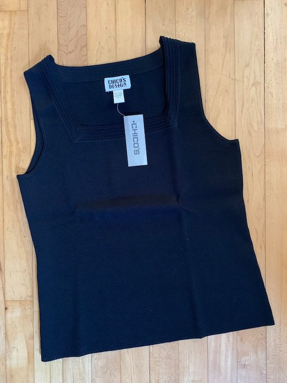 Vintage 90s Chico's square neck tank NWT