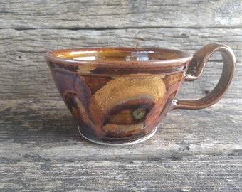 Brown Lola ware soup mug