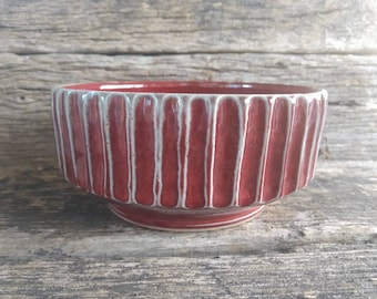 Copper red gear bowl