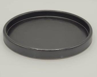 Modern Satin Black Salad Plate