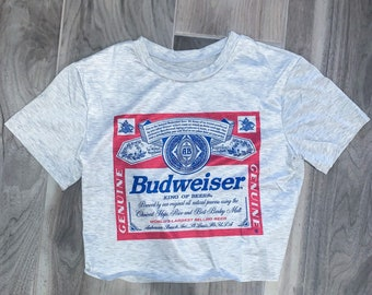 Big Guys Rule Big and Tall Buttwiser Beer Label Parody TShirt