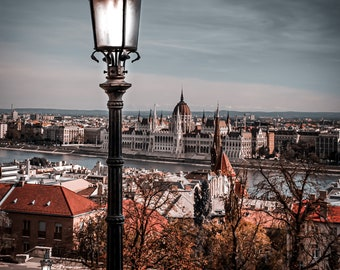 Budapest, Castle Hill Overlooking Parliament & Danube