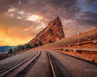 Red Rock Amphitheater/Stadium at Sunrise/Sunset