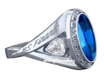 Custom Silver925 Graduation Ring , Graduation gift for her