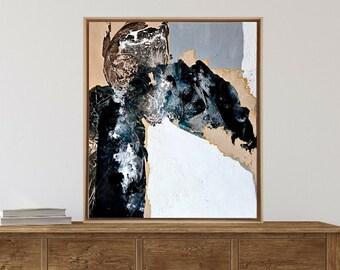 Scandinavian Nature inspired art - Minimalistic abstract - Framed Original art - Texture art -  Statement piece for living room