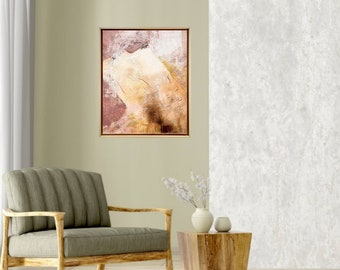 Framed Original Artwork - Home Décor - Acrylic abstract on stretched canvas - Gallery Wall - Fine texture art