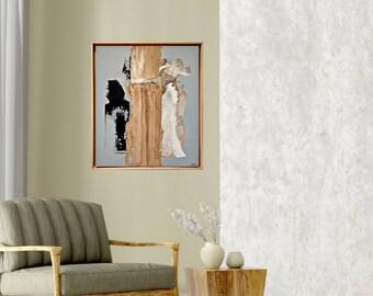 Original art - Minimalist abstract -Texture art - Artwork on canvas - Statement piece - Gallery wall decor -  Wabi-Sabi art