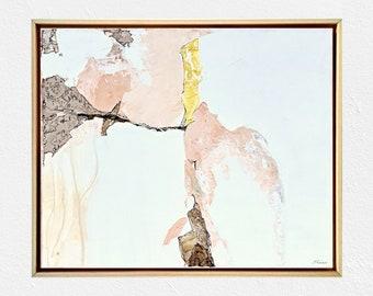 Original artwork - White color art - Detailed abstract - White interior décor - Contemporary living - Fine texture art