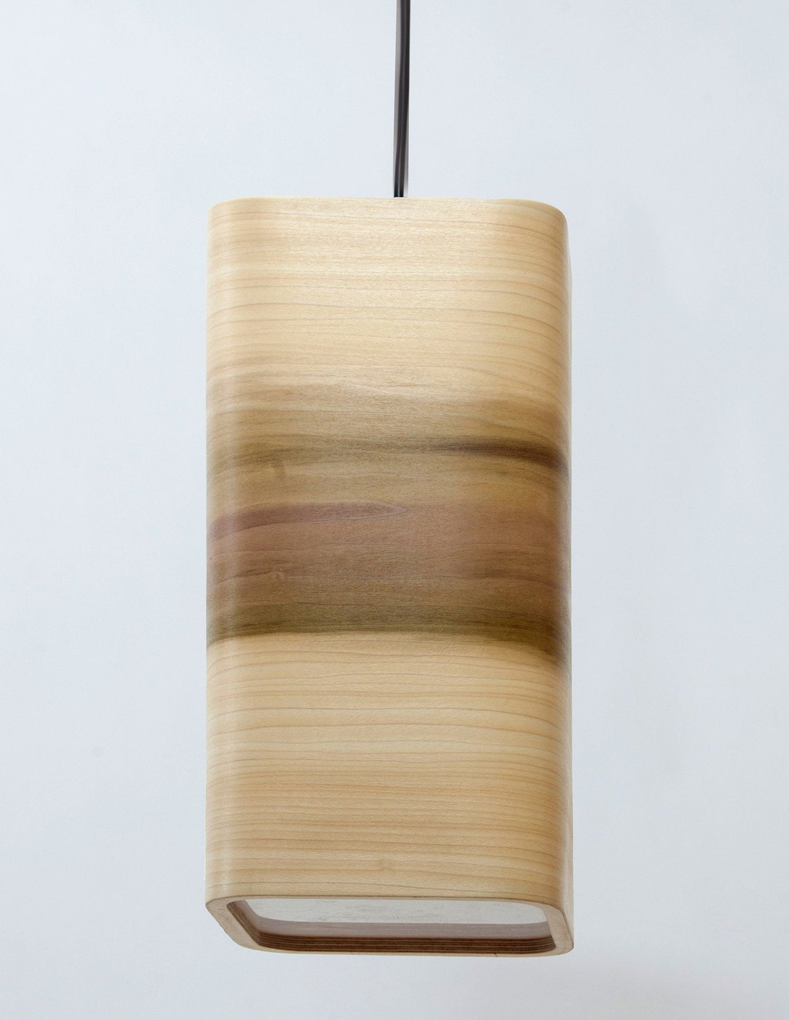 Wood Ceiling Light, Pendant Light, Tulipier Real Wood Veneer, Minimalist Lamp, Dining Table Handmade Light, Hanging Lamp, Wooden Lampshade.