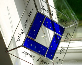 Twinkle Twinkle - Hand-Made Stained Glass Starlight Suncatcher