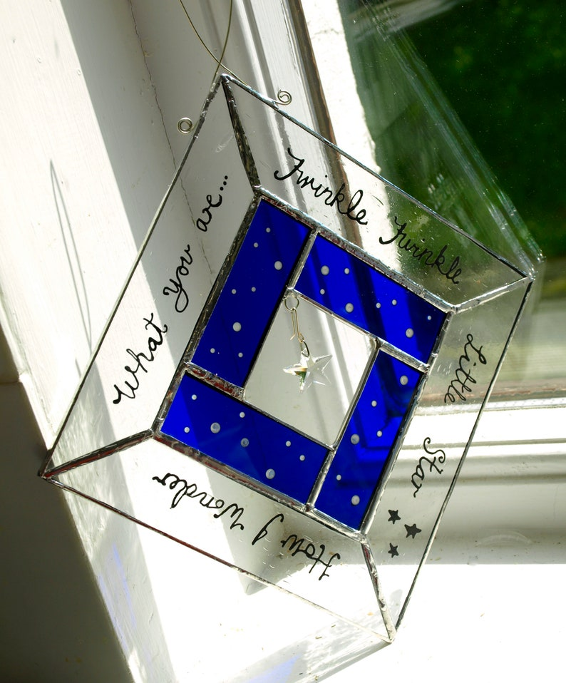 Twinkle Twinkle  Hand-Made Stained Glass Starlight Suncatcher image 0