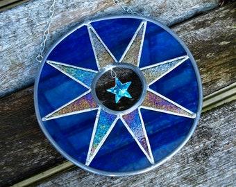 Large Starburst Stained Glass Suncatcher