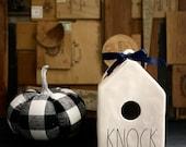 Rae Dunn KNOCK birdhouse