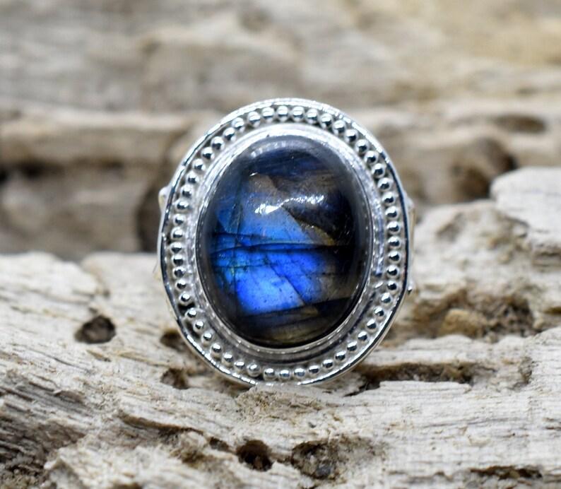 Labradorite Ring Statement Ring Gift 7.5 US b Fashion Ring Birthstone Handmade Ring,Statement Ring Woman Ring Sterling Silver Ring
