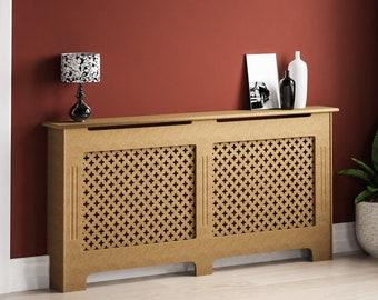 MDF Wood Radiator Cover Shelf Small Medium Adjustable Large Cabinet Traditional
