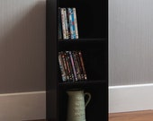 Oxford 3 Tier Cube Bookcase Display Shelving Storage Unit Wooden Stand Black