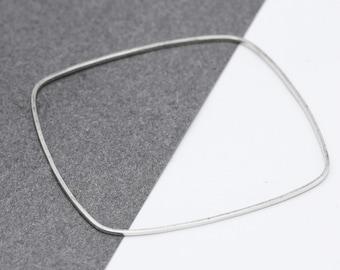 Sterling Silver Hexagon Wire Hexagon Bracelet Wire Cloisonne Jewelry Square Silver Wire Filigree Half Hard Wire