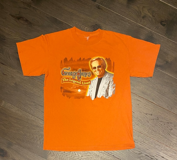George Jones The Legend Lives Graphic Tee | Size S