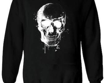 Skeleton Peace Sign Wave Bones Sweatshirt