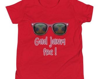 Gad janm fre! -Haitian Kreyol Youth Short Sleeve T-Shirt