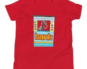 Men numero a Bank Bolet Youth Short Sleeve T-Shirt by Les Aventures de Kiki